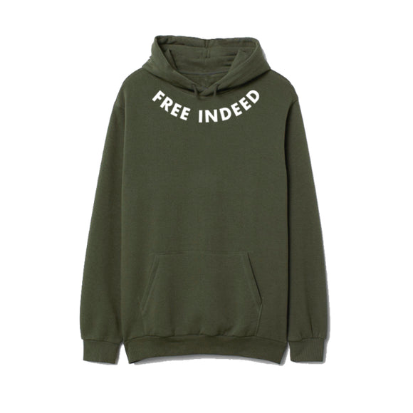 Free Indeed Hoodie - Military Green