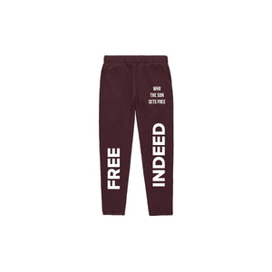 Free Indeed Joggers - Maroon