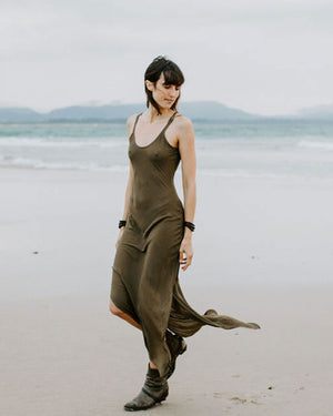 Long Slip Dress - Olive