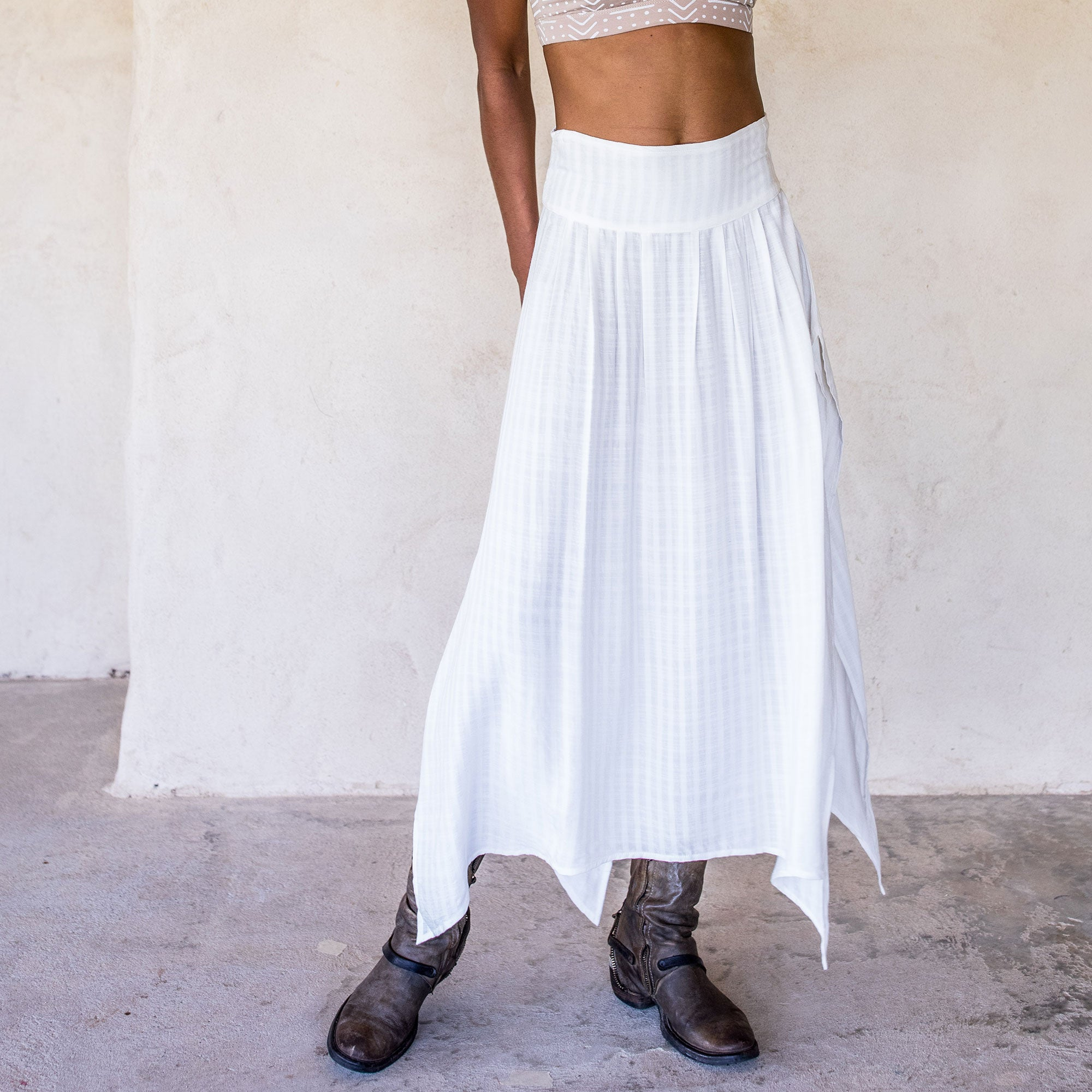 Abby Skirt - White - Idis Designs