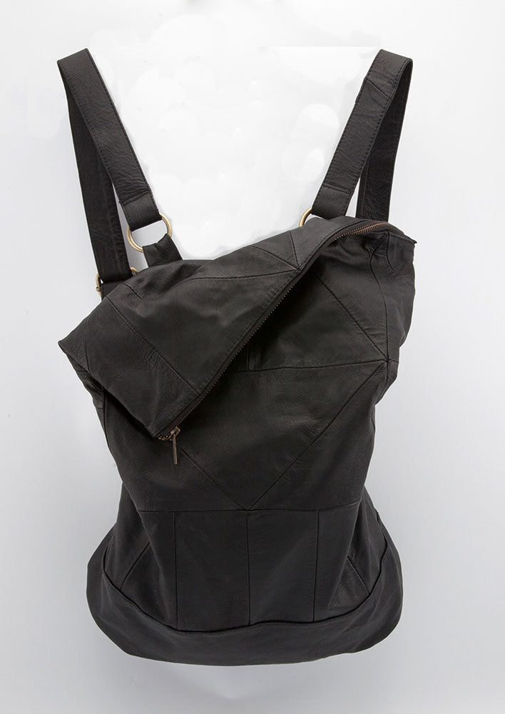 Leather Geo Pack - Backpack