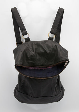 Leather Geo Pack - Backpack - Idis Designs