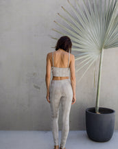 Yoga Crop - Tribal White