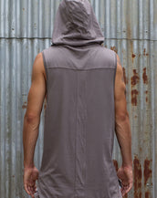 Hooded Tank - Grey