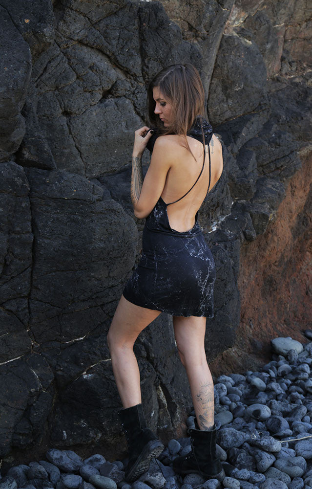 Backless Dress - Dark Stone