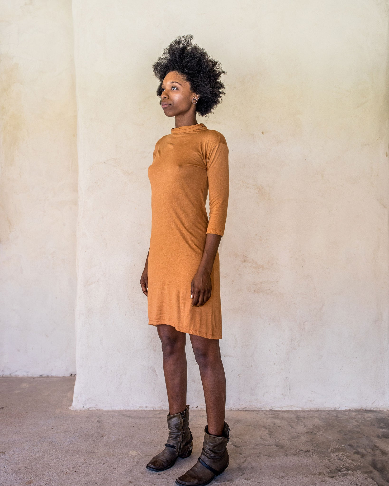 Linen Dress - Burnt Orange - Idis Designs