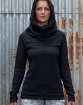 Long Neck Top - Black