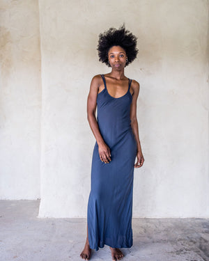 Long Slip Dress - Navy - Idis Designs