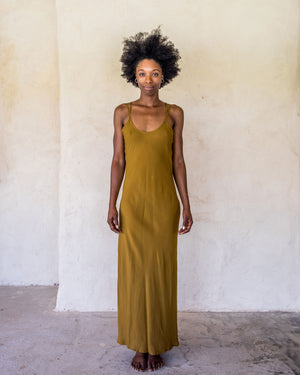 Long Slip Dress - Tumeric - Idis Designs