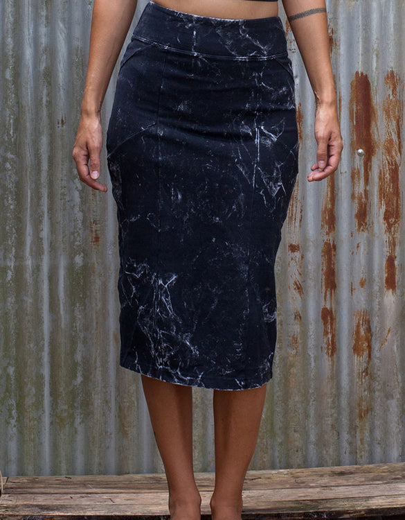 Long High - Tube Skirt - Dark Stone