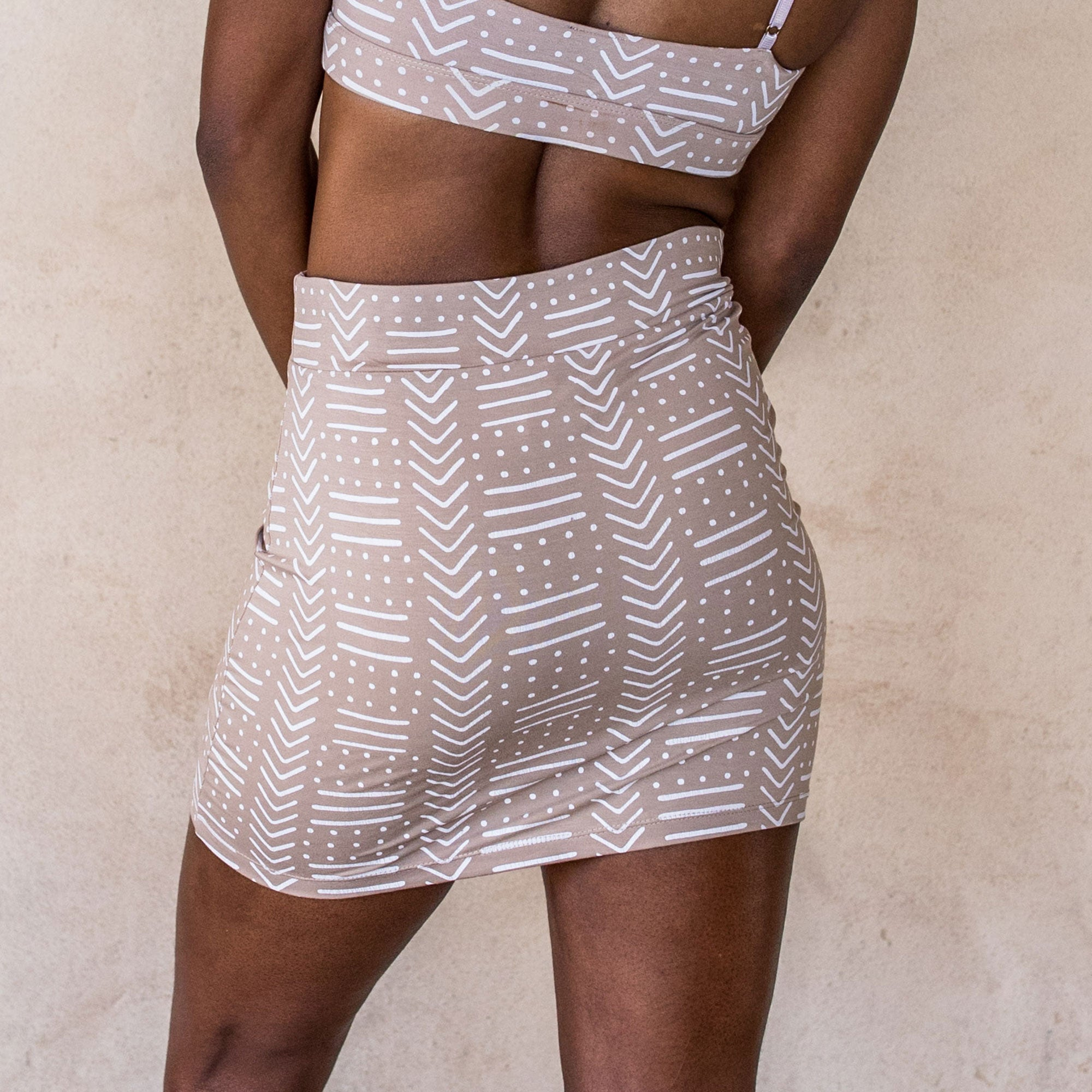 Mini Skirt - White Tribe - Idis Designs