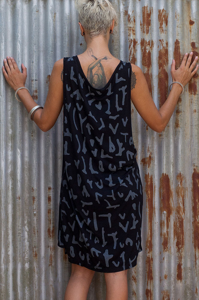 Tank Dress - Black Coral - Idis Designs