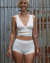 High waisted Knickers - Cream