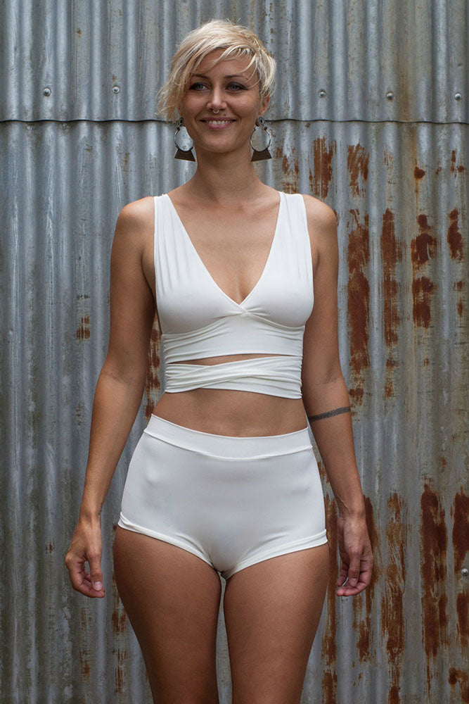 High waisted Knickers - Cream - Idis Designs