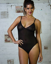 Bodysuit - Black Mesh