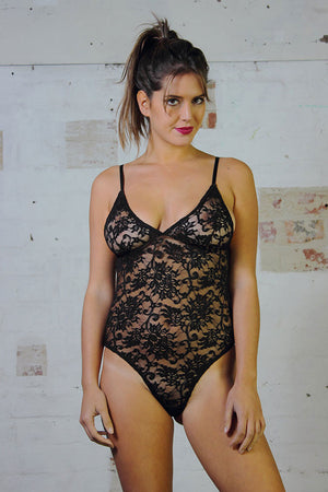 Bodysuit - Black Lace - Idis Designs