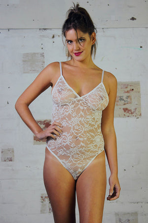 Bodysuit - White Lace - Idis Designs