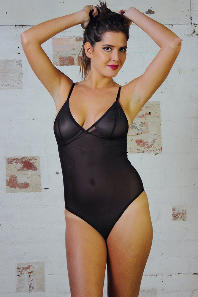 Bodysuit - Black Mesh - Idis Designs