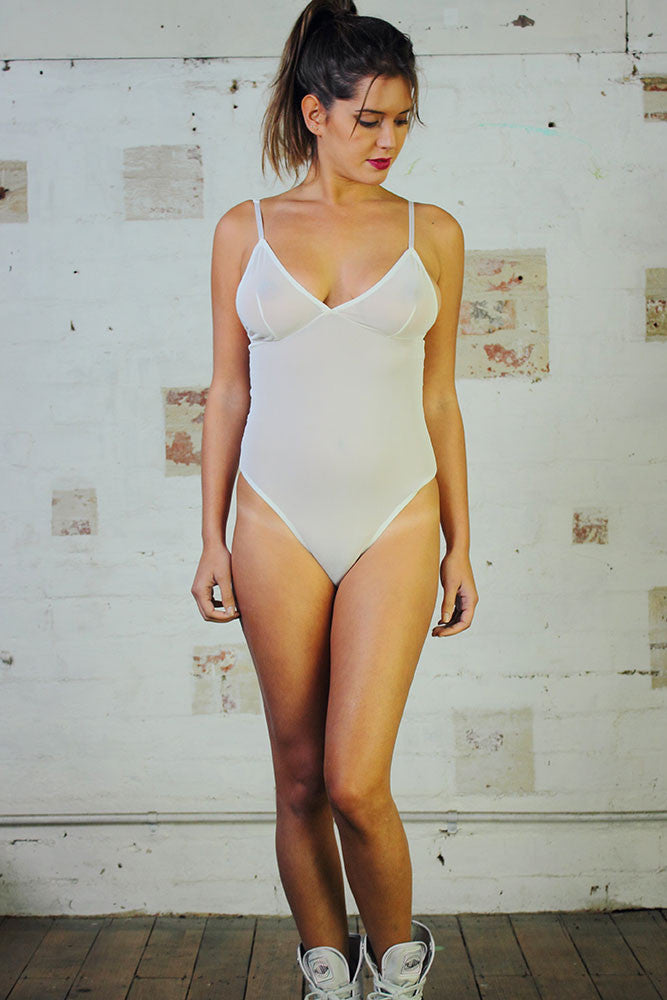 Bodysuit - White Mesh - Idis Designs