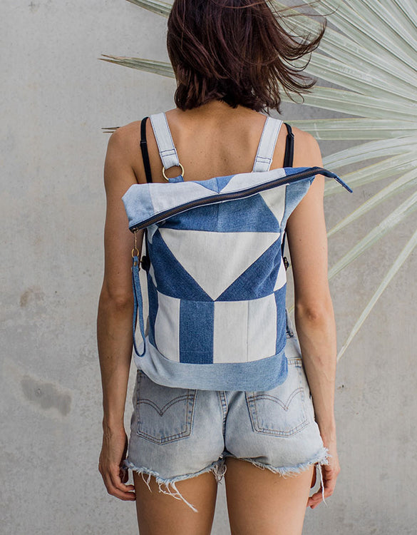 Upcycled Denim Geo Pack