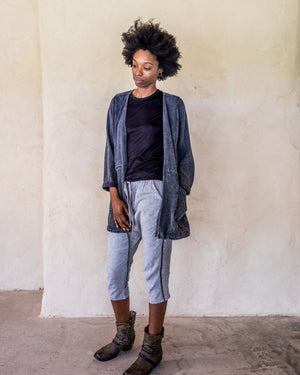 Linen Pants - washed Blue - Idis Designs