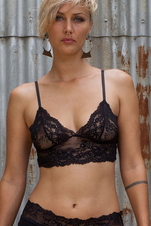 Lace Bralette - Black - Idis Designs