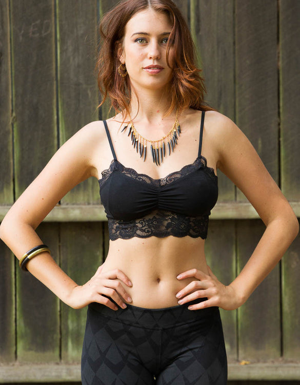 Lace Crop - Black