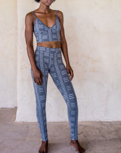 Leggings - tribal blue