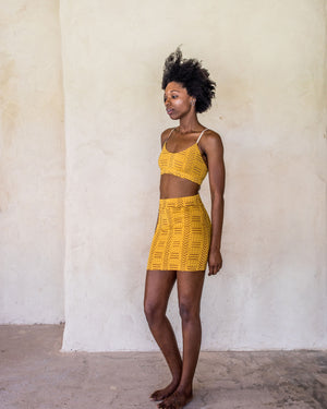 Lexi crop - Yellow tribe - Idis Designs