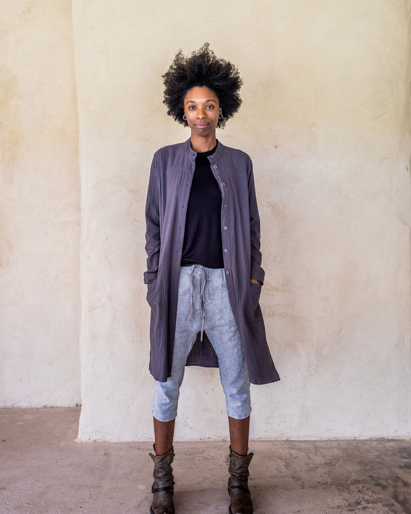 Linen Pants - washed Blue