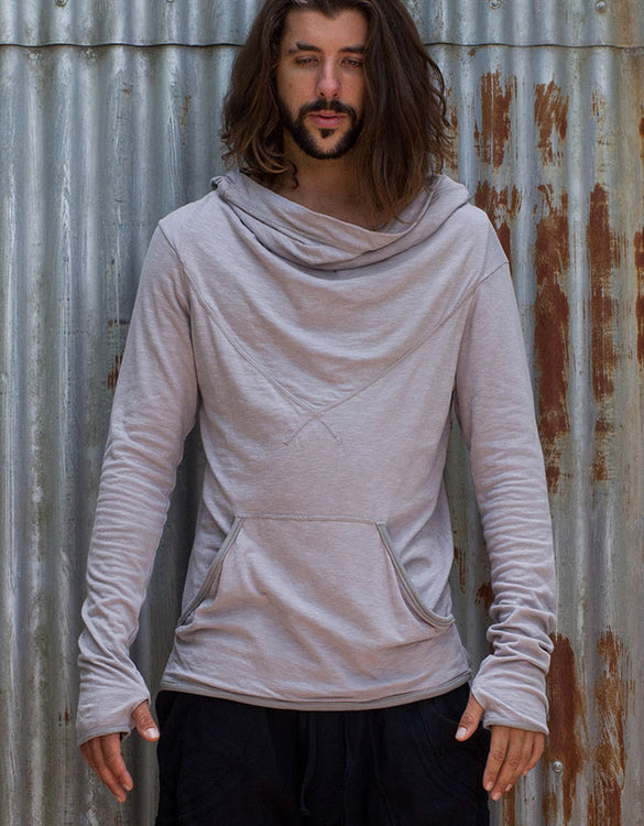 Hooded Long Sleeve - Stone