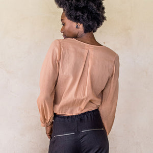 Long Sleeve Wrap - Nude - Idis Designs