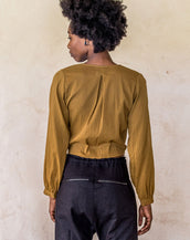Long Sleeve Wrap - Golden