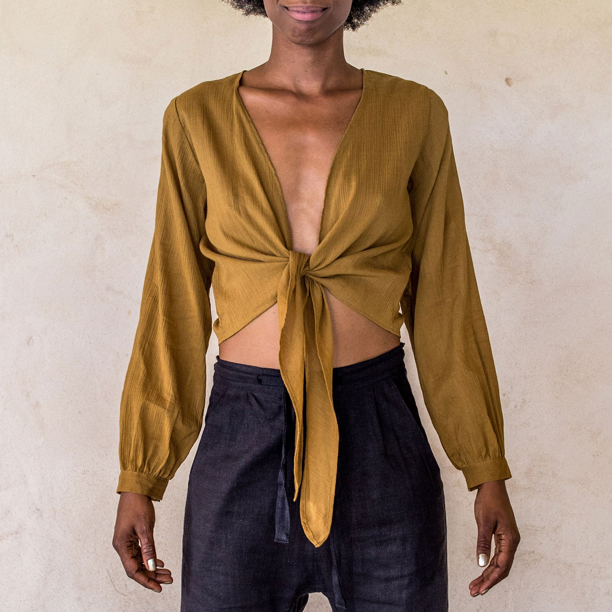 Long Sleeve Wrap - Golden - Idis Designs