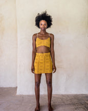 Mini Skirt - Yellow tribe