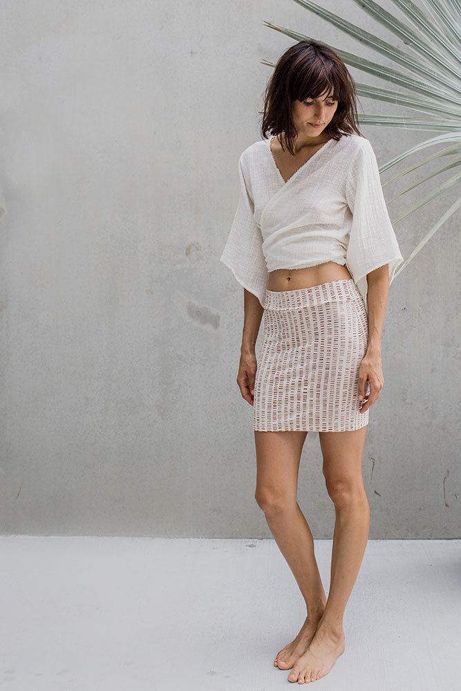 Tribal Tube Skirt - Ochre