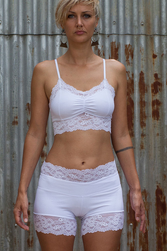 Lace Crop - White - Idis Designs