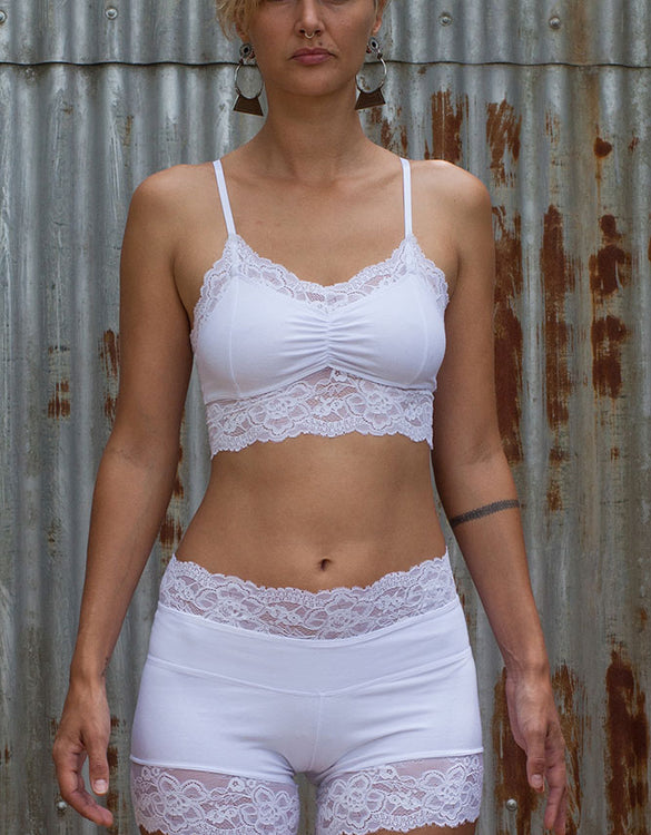 Lace Crop - White