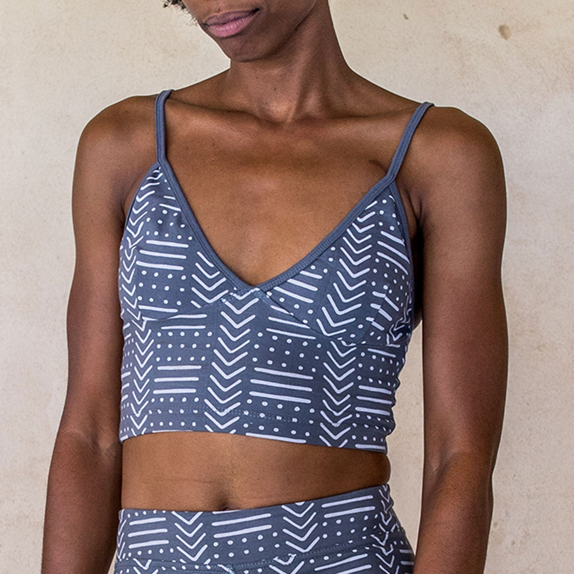 Yoga Crop - Tribal Blue - Idis Designs