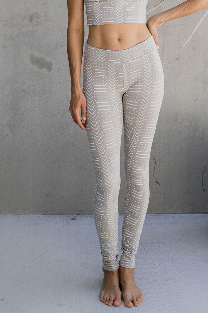 Leggings - Tribal White