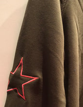 Khaki sweatshirt with star sleeve