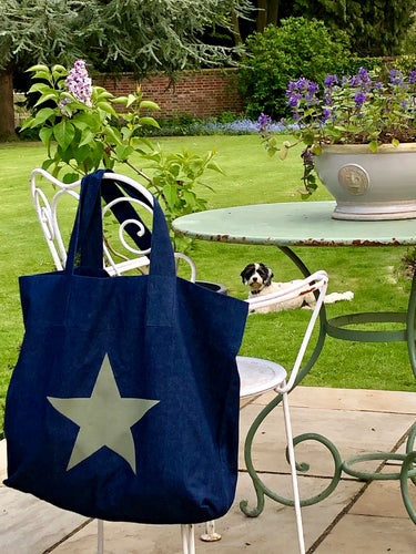 Star Linen or Denim Bags