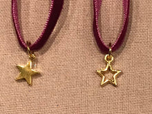 Velvet choker necklace with star