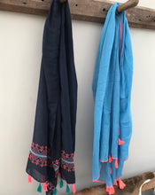 Scarves with tassel trim