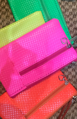 Neon purse larger size