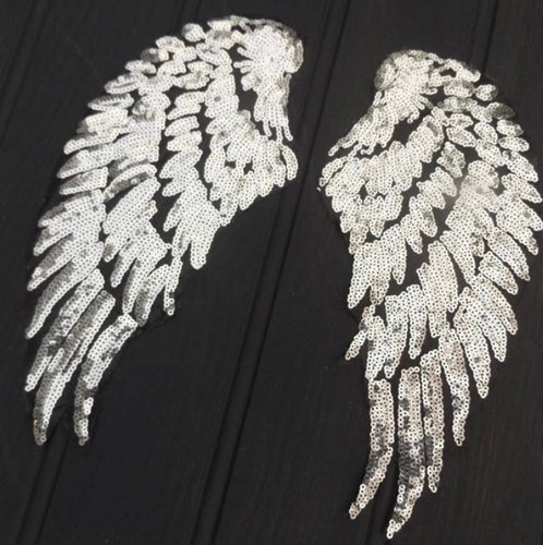 Iron on sequin angel wings