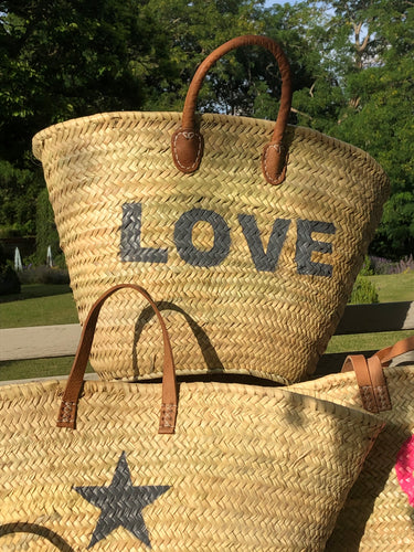 Large beach baskets - Padded Short Handles