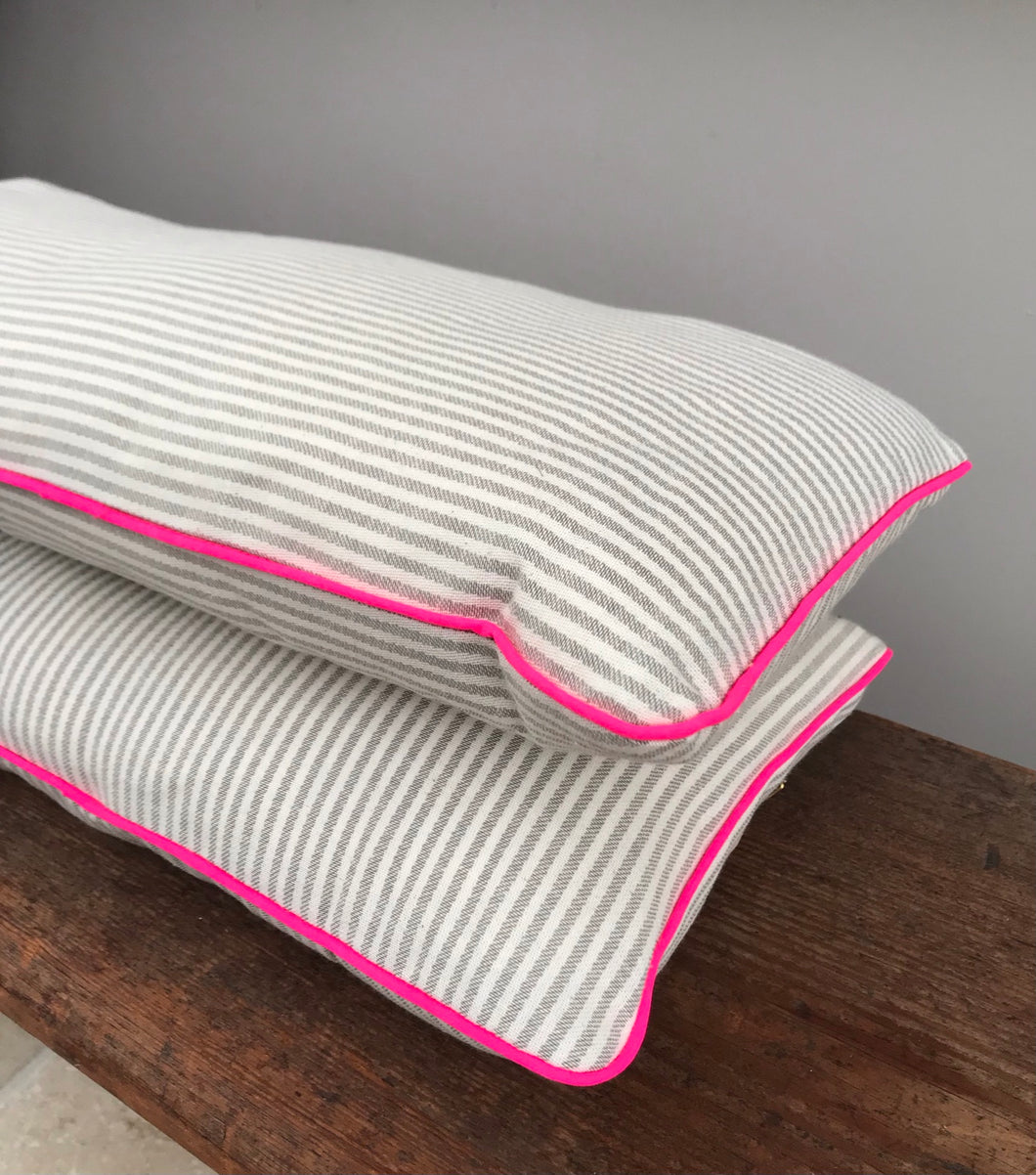 Percy and Dottie longer oblong small cushions