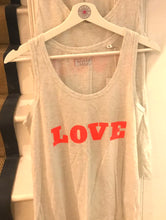 Dandy star pale grey and orange 'LOVE' vest