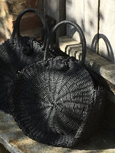 Round Black Basket Bag